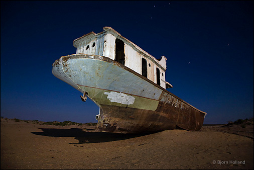 Flagship of the Aral Sea fishing fleet. Photo © Bjorn Holland