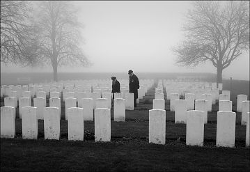 Reinterment of British soldiers, Loos, France, March 2014. Photo © Brian Harris